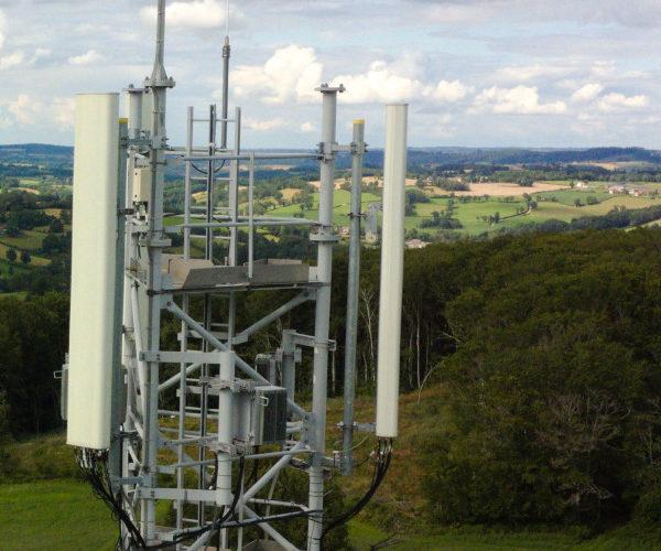 Inspection pylône émetteur par drone
